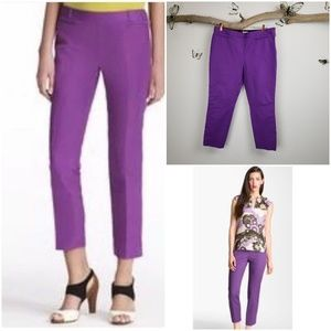 Kate Spade Slim cropped trousers African violet